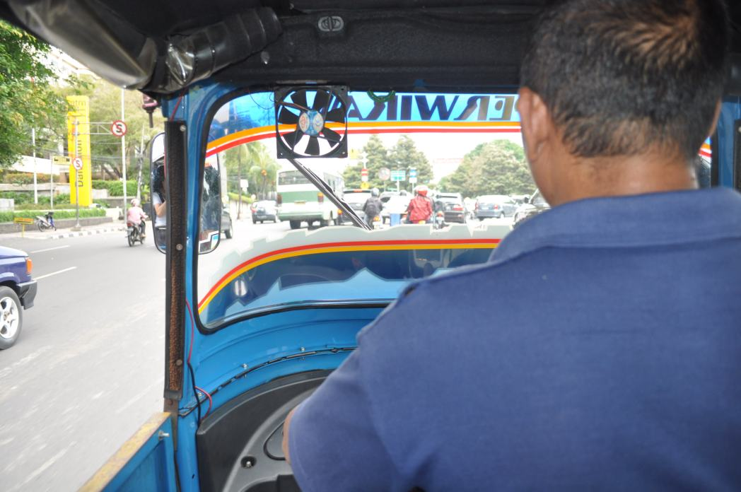 View from the window of a bajaj