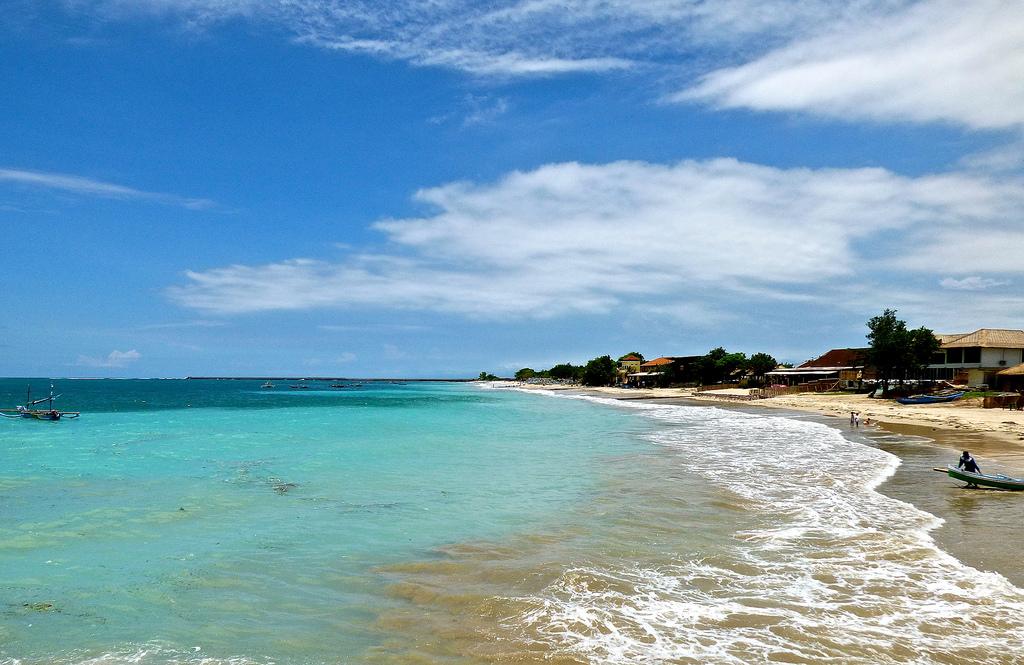 A white sand beach in Bali.