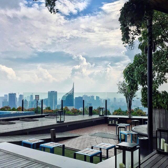 View of Jakarta skyline from Skye bar