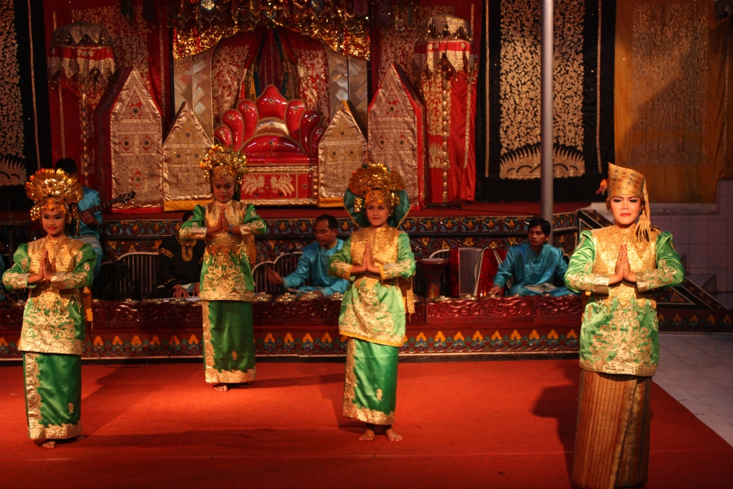 Traditional dancers on stage