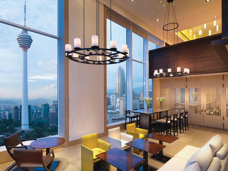 Tall ceilings offering natural lighting. Photo Credit: Lanson Place Bukit Ceylon Serviced Residences