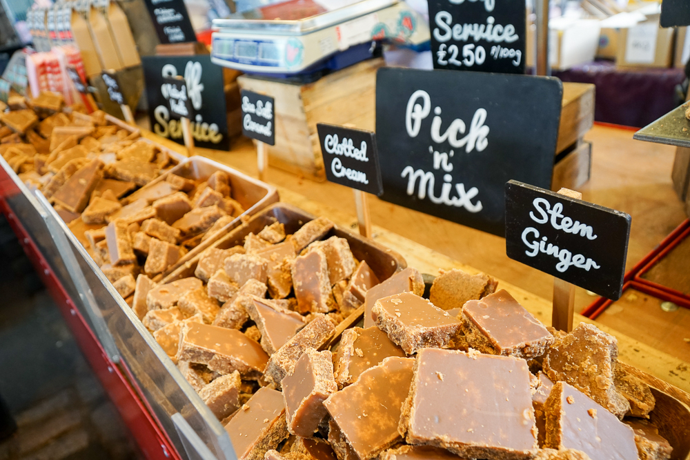 Flavoured fudge at Borough Market