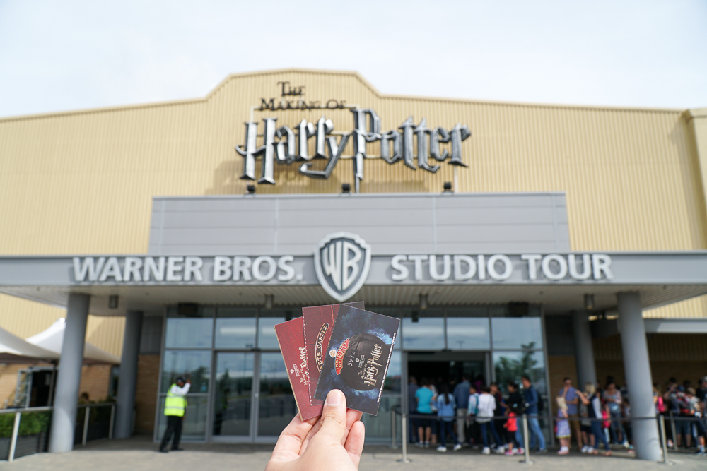 Tickets outside the Warner Bros. Harry Potter Studio Tour.