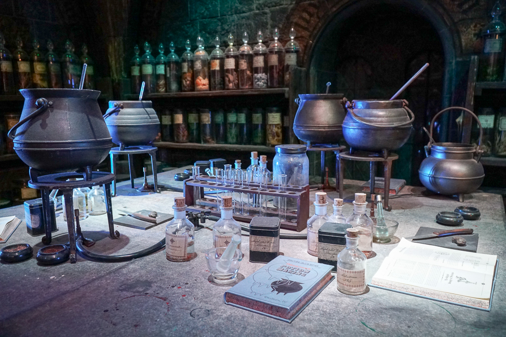 Studio set of the Potions Classroom from the movies.