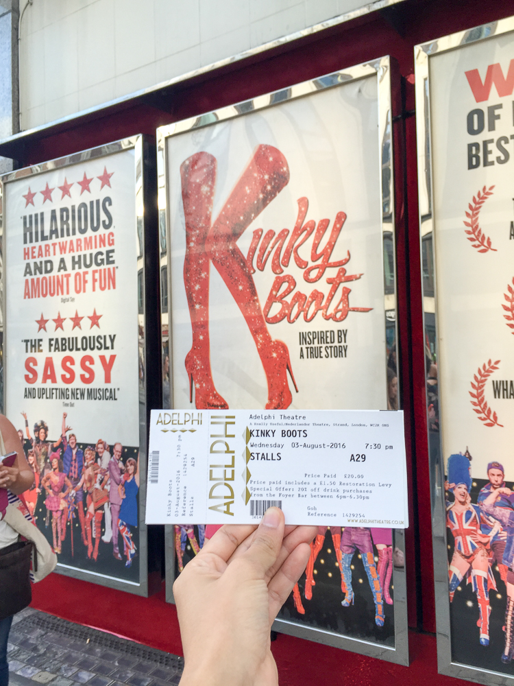 London musical tickets to Kinky Boots