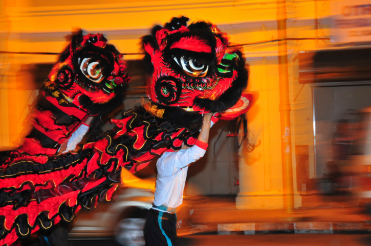 Chinese New Year celebrations with a Malay twist