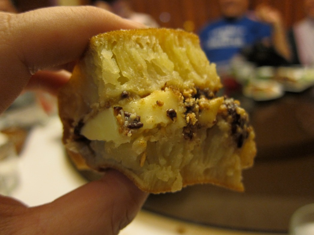 Martabak with chocolate filling