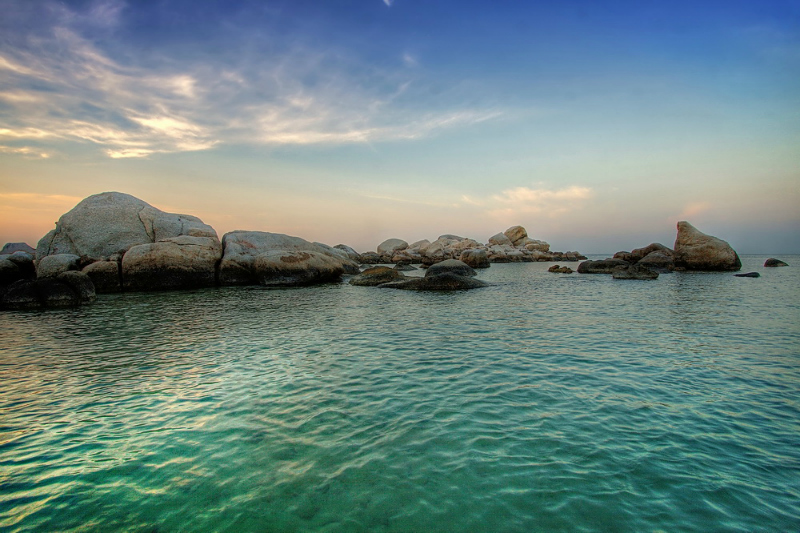 The gorgeous rocks and crystal clear waters of Bintan