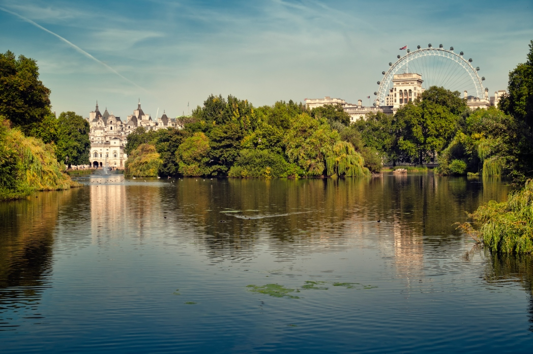 The view towards Horseguards in St James's Park
