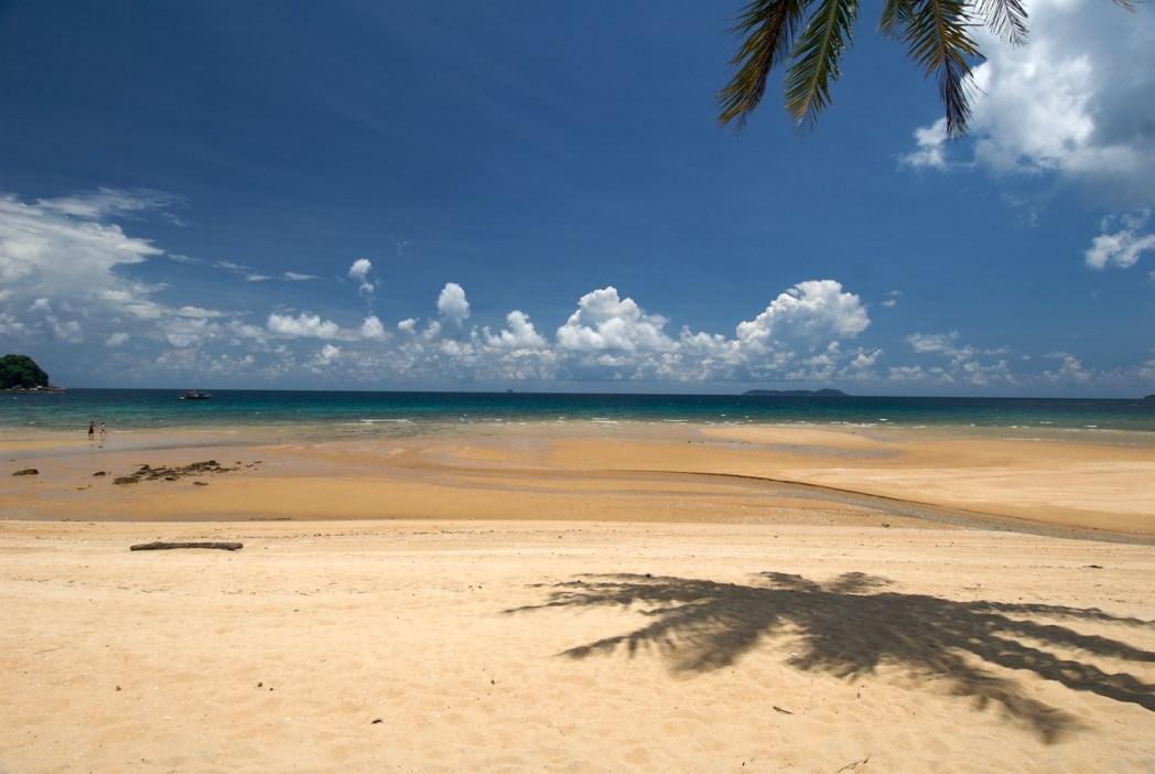 white beach and sea on Tioman Island
