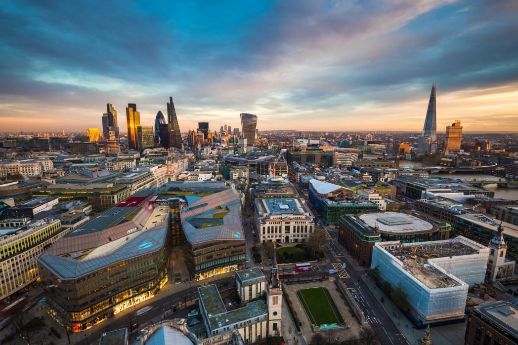 Panorama of London cityscape